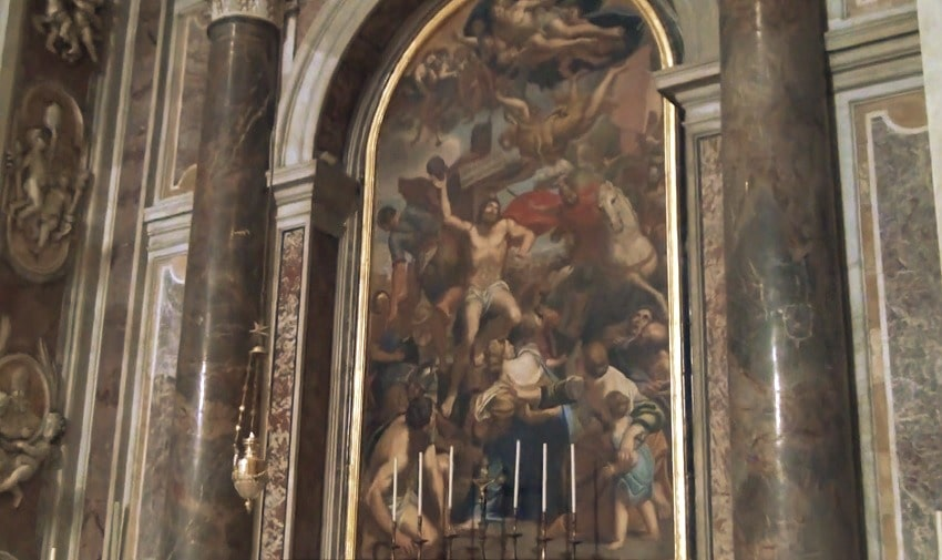 Часовня Святого Себастьяна (Chapel of St Sebastian) это изображение в Соборе Петра- картина