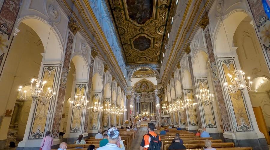 Собор (внутри) Андрея Первозванного в Амальфи - фото