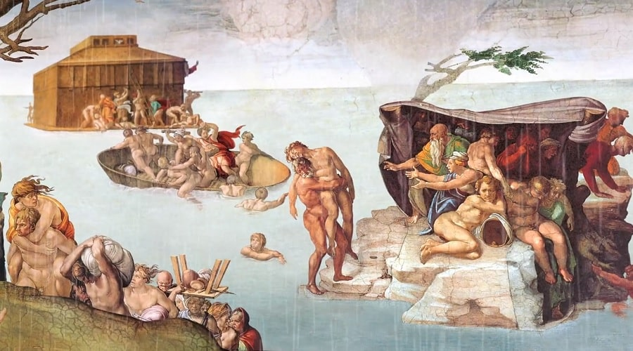 Всемирный Потоп и изображение Ноева Ковчега (библейская история) - фото