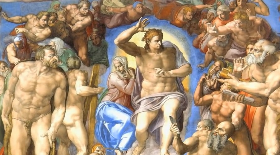 Сцена Страшного суда в Сикстинской капелле - фото