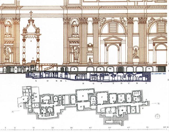 План Ватиканского некрополя, под собором